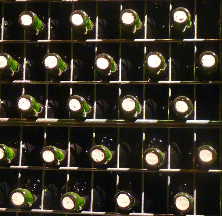Contenedores de botellas con mallas soldadas